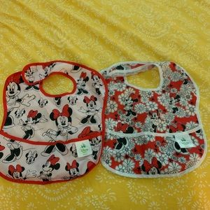 Disney Baby Washable Velcro cls bibs, Minnie Mouse